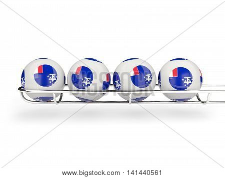 Flag Of French Southern Territories On Lottery Balls