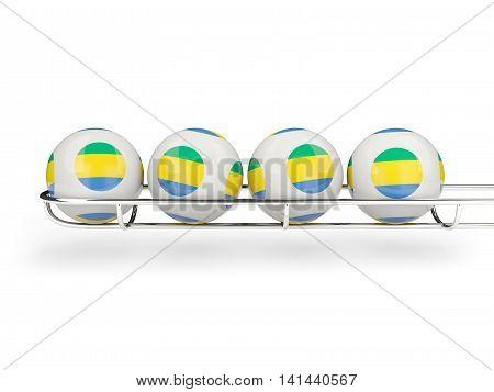 Flag Of Gabon On Lottery Balls