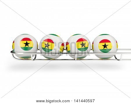 Flag Of Ghana On Lottery Balls