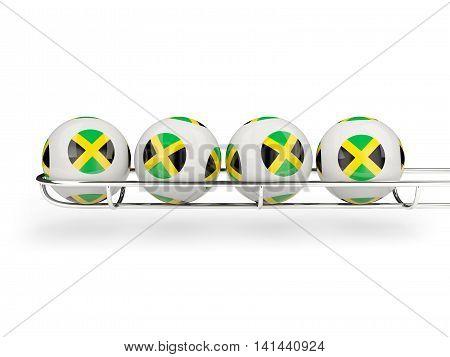 Flag Of Jamaica On Lottery Balls
