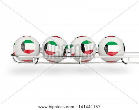 Flag Of Kuwait On Lottery Balls