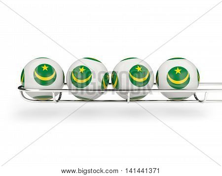 Flag Of Mauritania On Lottery Balls