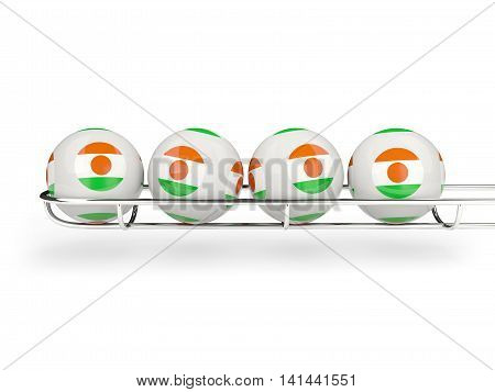 Flag Of Niger On Lottery Balls