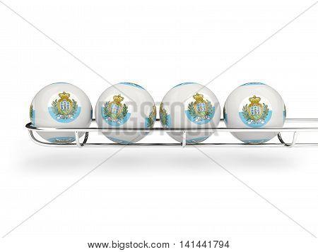 Flag Of San Marino On Lottery Balls