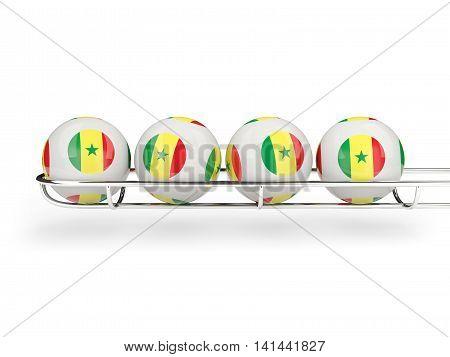 Flag Of Senegal On Lottery Balls