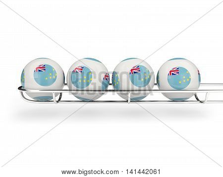 Flag Of Tuvalu On Lottery Balls