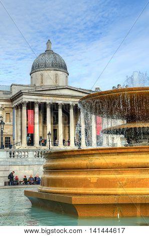 Trafalgar Square In London United Kingdom..