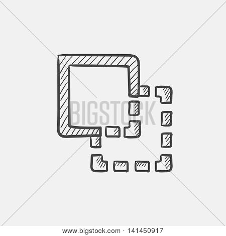 Trim sketch icon for web, mobile and infographics. Hand drawn vector isolated icon.