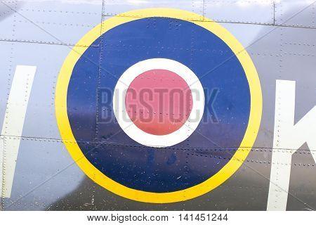 Round Symbol On An Old Dutch Warplane