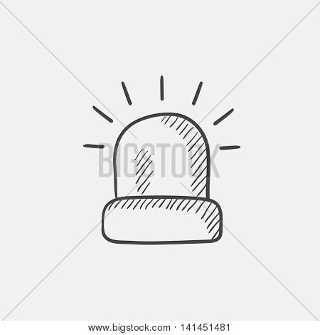 Siren light sketch icon for web, mobile and infographics. Hand drawn vector isolated icon.