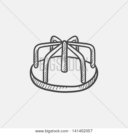 Merry-go-round sketch icon for web, mobile and infographics. Hand drawn vector isolated icon.