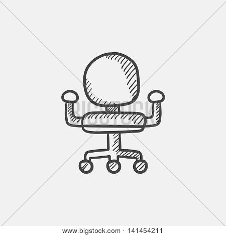 Office chair sketch icon for web, mobile and infographics. Hand drawn vector isolated icon.