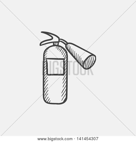 Fire extinguisher sketch icon for web, mobile and infographics. Hand drawn vector isolated icon.