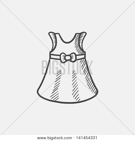 Baby dress sketch icon for web, mobile and infographics. Hand drawn vector isolated icon.