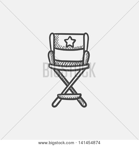 Director chair sketch icon for web, mobile and infographics. Hand drawn vector isolated icon.