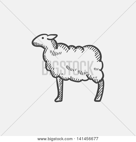 Sheep sketch icon for web, mobile and infographics. Hand drawn vector isolated icon.
