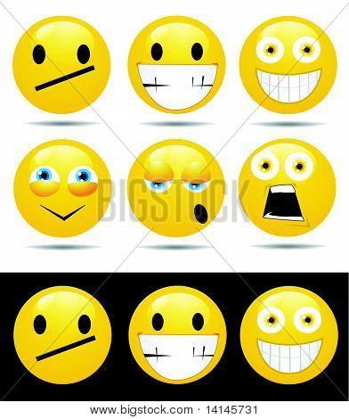 Satz von Zeichen gelbe Emotionen