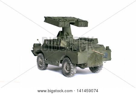 scale model of old vehicle tanks and vehicles