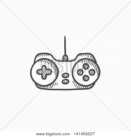 Joystick vector sketch icon isolated on background. Hand drawn Joystick icon. Joystick sketch icon for infographic, website or app.