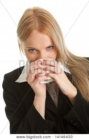 Businesswomen holding a cup of coffee