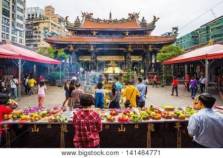The Taipei Lungshan Temple In Taiwan.