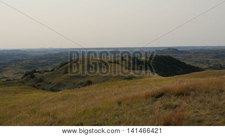 Expansive view of great plains national parks area.
