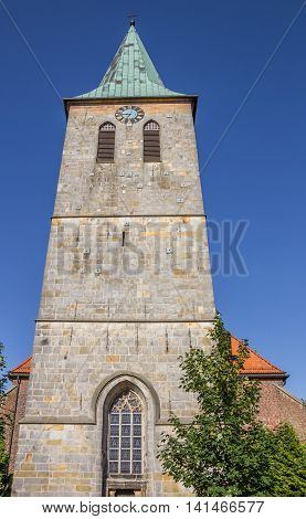 Tower Of The St. Vincentius Church In Haselunne