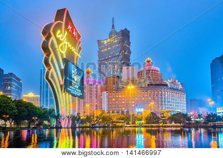 The Buildings Of Casino In Macau, China