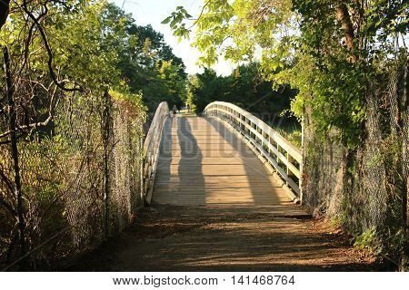 The bridge that the cross country runners race over at Sunken Meadow State Park, NY
