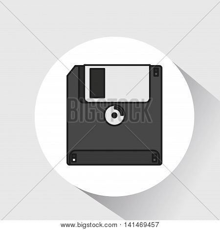 floppy disk save icon vector illustration graphic