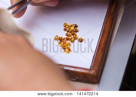 Natural semiprecious stones and other minerals, Gemstone Market Chanthaburi Province, Thailand, 2016