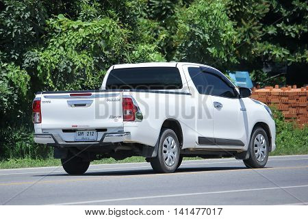 CHIANGMAI THAILAND -JULY 27 2016: Private Pick up Car Toyota New Hilux Revo Smart Cab. On road no.1001 8 km from Chiangmai Business Area.