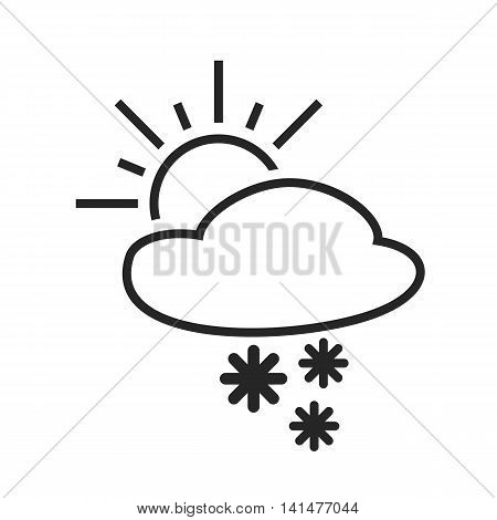 Heavy snow shower. Sleet day. Weather forecast icon. Editable element. Creative item. Flat design graphic. Part of series of various symbols and signs for climate changes diagnostic. Vector