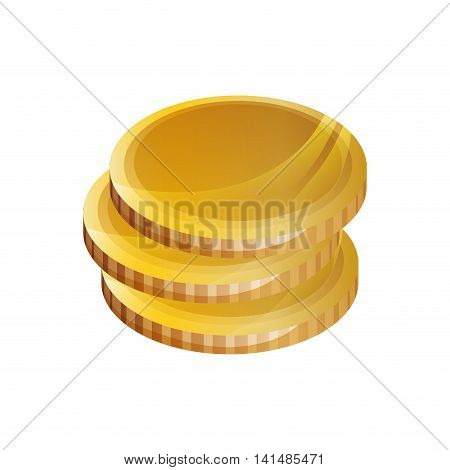 coins money financial item economy icon. Isolated and flat illustration. Vector graphic