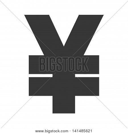yen money financial item economy icon. Isolated and flat illustration. Vector graphic