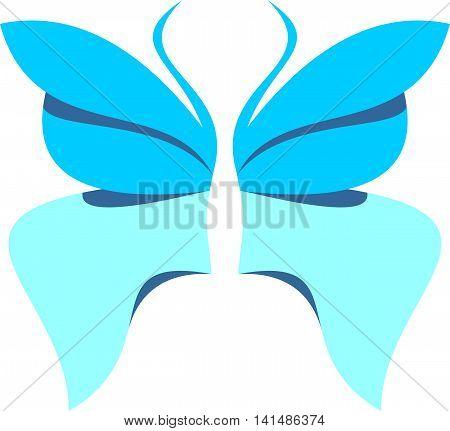 stock logo illustration blue beauty butterfly flying