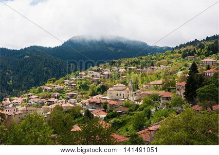 Small Village in the mountains of Arkadia Greece.