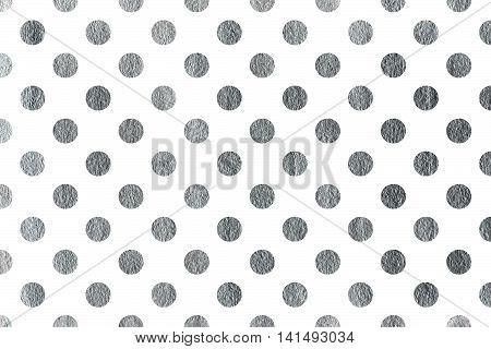 Silver Polka Dot Background.