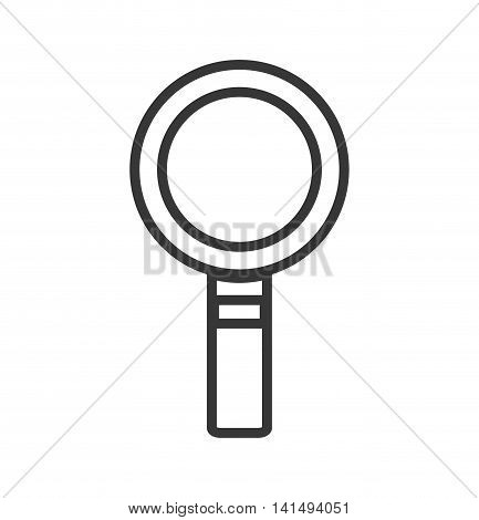 lupe magnifying glass silhouette icon. Isolated and flat illustration. Vector graphic