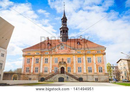 Town Hall In Narva Town, Estonia