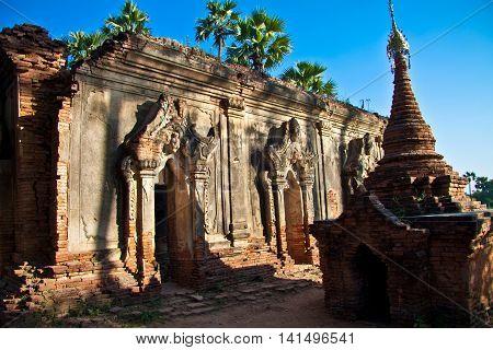 The Inwa temple in Bagan / Myanmar