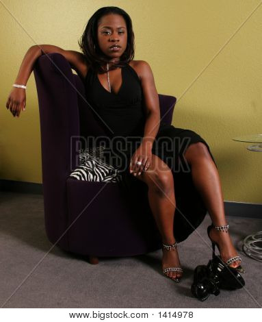 African American Woman Step On The Phone 2