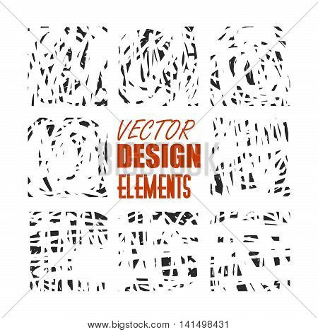 grunge scratch vector elements for texture, background, brushes and other design. Isolated eps 10.