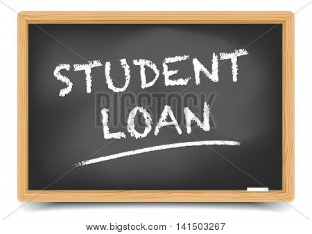 detailed illustration of a blackboard with Student Loan text, eps10 vector, gradient mesh included