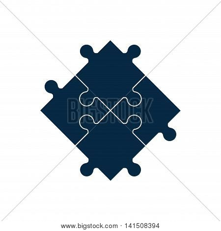 puzzle frame jigsaw game figure icon. Isolated and flat illustration. Vector graphic