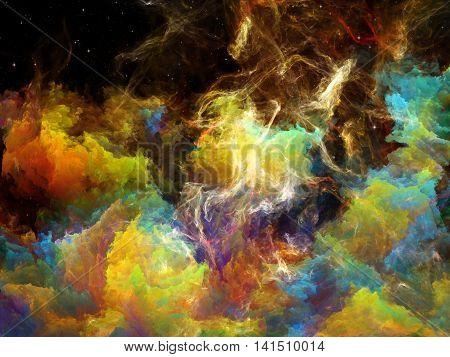 Colorful Space Nebula