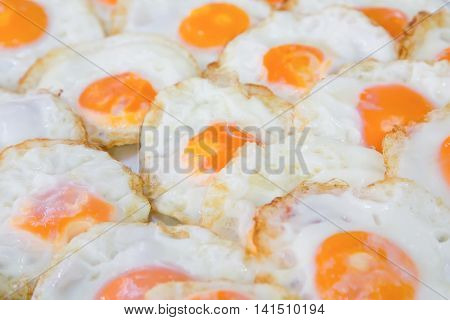 Fried egg for take for take away meal ,Street food
