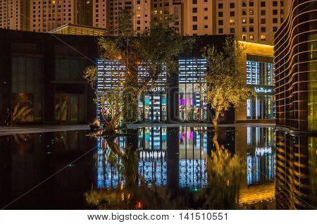 Dubai United Arab Emirates 14 May 2014 Beautiful  images around the streets of Dubai the global city  of UAE