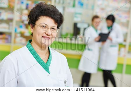 pharmacy worker in drug store