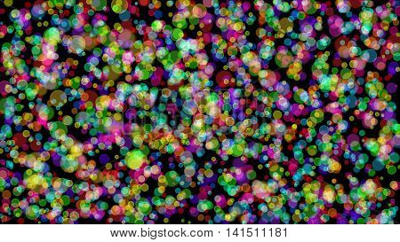 Bokeh gradient abstract colorful for Christmas on black background